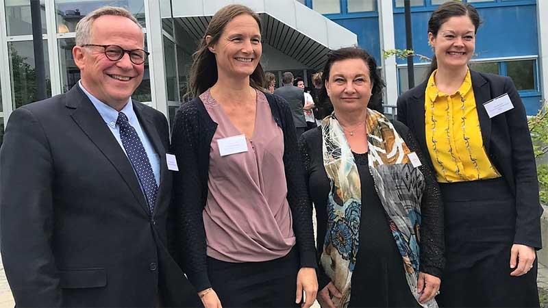 Direktørene for de nordiske registeretatene i Norge, Danmark, Sverige og Finland: Lars Peder Brekk, Katrine Winding, Annika Stenberg og Liisa Räsänena.